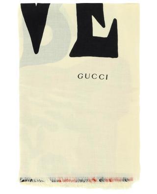 GG Jacquard Elisir of Love shawl GUCCI