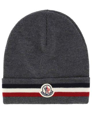Beanie with tricolour turn-up MONCLER