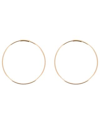 Circle 30 mm fine pink gold hoop earrings GINETTE NY