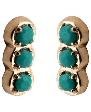 Fallen Sky Strip gold and turquoise earrings GINETTE NY