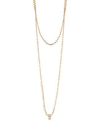 Lange Goldhalskette mit Diamanten Mini Tube & Diamond GINETTE NY