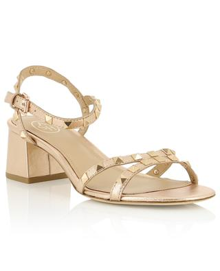 Iggy studded golden block heel sandals ASH