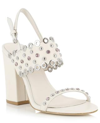Lucy crystal clad sandals with block heels ASH