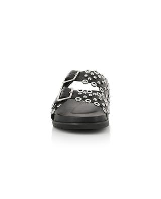 Universe open crystal clad mules ASH