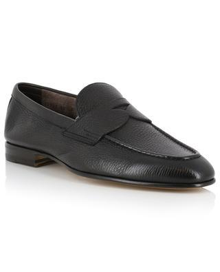 Grained leather loafers SANTONI