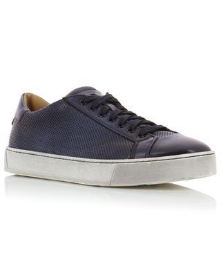 Perforated leather sneakers SANTONI