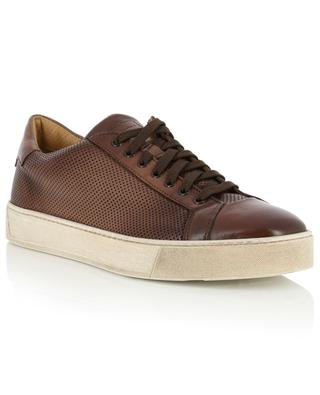 Perforated leather sneakers SANTONI