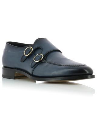 Chaussures à double boucle en cuir lisse SANTONI