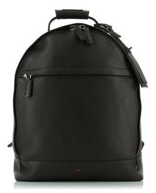 Rucksack aus genarbtem Leder mit Adressanhänger SANTONI