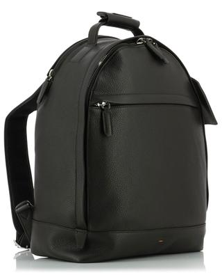 Grained leather backpack with address tag SANTONI