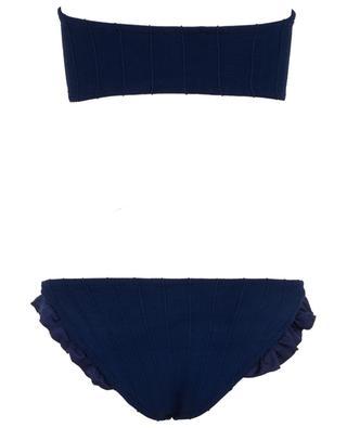 Twosret bandeau bikini with ruffle detail HUNZA G