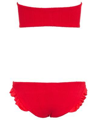 Bikini bandeau détail volant Twosret HUNZA G