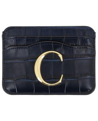 Chloé C card holder in croc effect leather CHLOE
