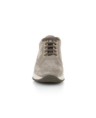 Interactive stud embellished suede sneakers HOGAN