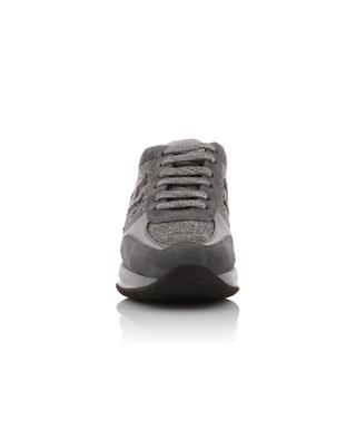 Interactive suede, fabric and leather sneakers HOGAN