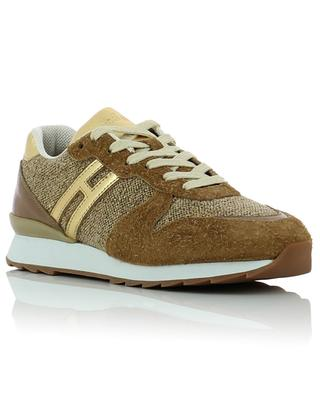 R261 suede, fabric and leather sneakers HOGAN
