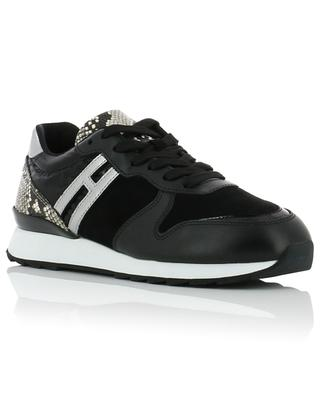 R261 lizard effect suede and leather sneakers HOGAN