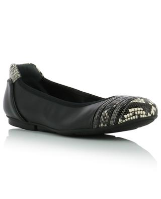 cfcb7a260 Wrap snakeskin detail leather ballet flats HOGAN ...