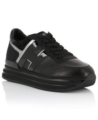 New H222 sparkling leather platform sneakers HOGAN