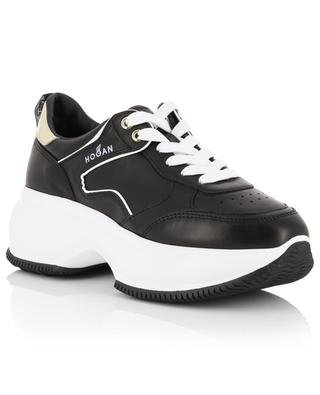 Maxi I Active leather sneakers with golden trims HOGAN