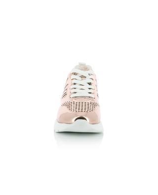 Sneakers aus metallisiertem und perforiertem Leder Active One HOGAN