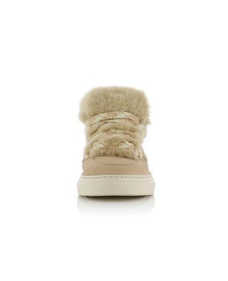 Sneakers aus Wildleder mit Pelz H365 HOGAN