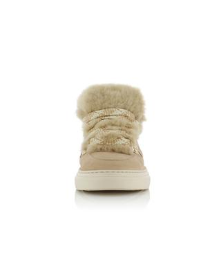H365 suede and fur sneakers HOGAN