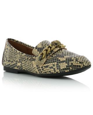 Chelsea snakeskin print loafers KURT GEIGER LONDON