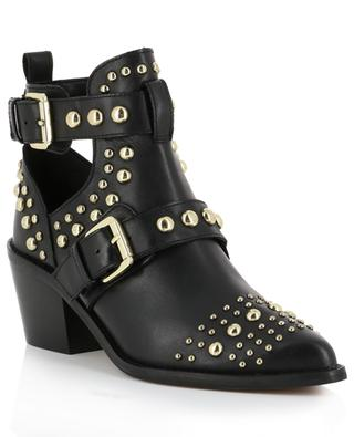 Leather ankle boots with studs KURT GEIGER LONDON