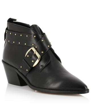 Denzell leather ankle boots with buckle and studs KURT GEIGER LONDON