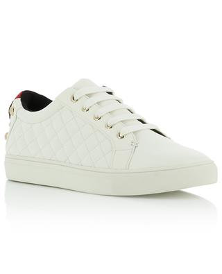 Ludo quilted grained leather sneakers KURT GEIGER LONDON