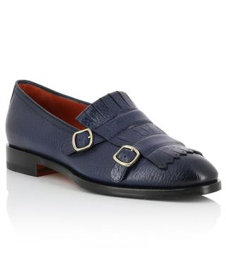Leather double monk-strap brogues SANTONI