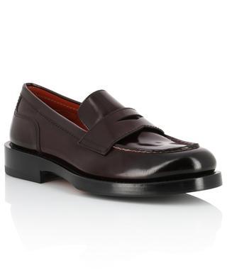 Smooth leather loafers SANTONI