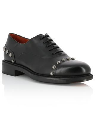 Studded smooth leather brogues SANTONI