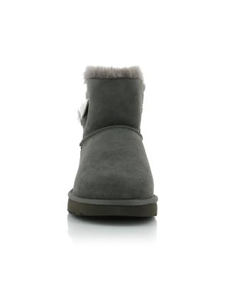 Bottines en cuir lainée retournée Mini Bailey Button Bling UGG