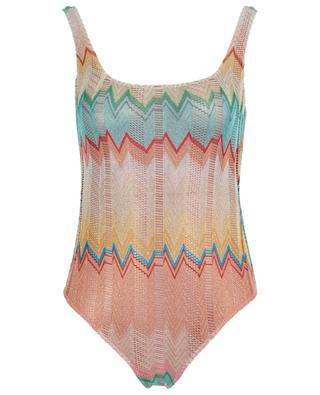 Zigzag pattern openwork knitting swimsuit MISSONI MARE
