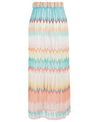 Long openwork knit skirt with zigzags MISSONI MARE