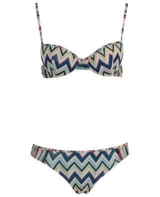 Bikini en maille scintillante motif zigzag MISSONI MARE