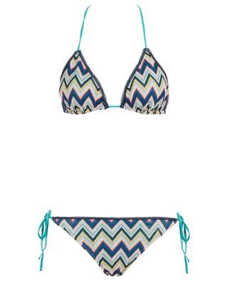 Bikini triangle en maille lurex motif zigzag MISSONI MARE