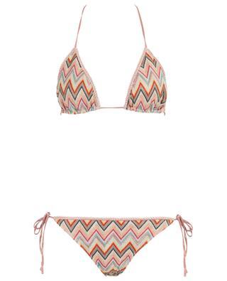 Triangel-Bikini aus Lurexstrick mit Zickzackmuster MISSONI MARE