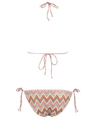 Zigzag pattern triangle Lurex knit bikini MISSONI MARE
