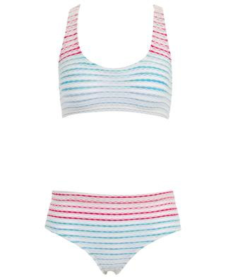 Striped Lurex knit sport bikini MISSONI MARE