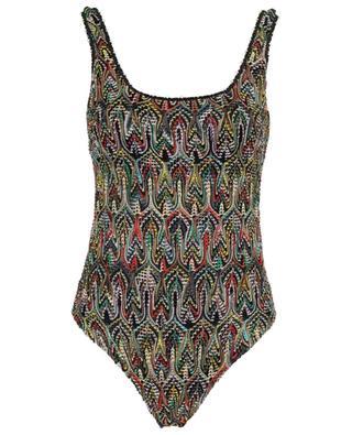 Wavy openwork knit swimsuit MISSONI MARE