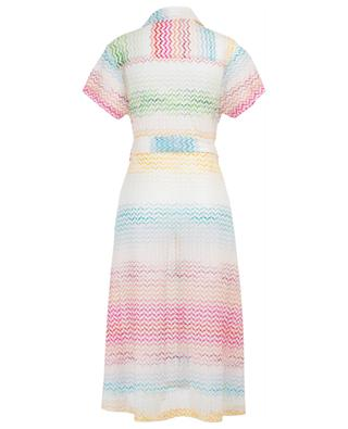Zigzag patterned knit shirt dress MISSONI MARE