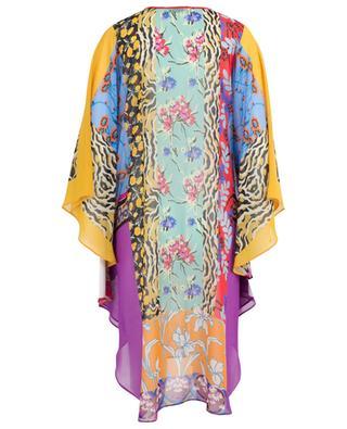 Printed silk poncho ETRO