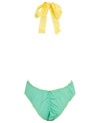 M02VL Plumetti ruffled neck-holder swimsuit COMO UN PEZ EN EL AGUA