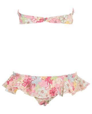 T07-B08 Liberty Mauvey ruffled bandeau bikini COMO UN PEZ EN EL AGUA