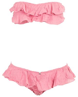 T07-B08 Plumetti ruffled bandeau bikini COMO UN PEZ EN EL AGUA