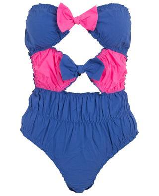 M11 strapless bow adorned swimsuit COMO UN PEZ EN EL AGUA