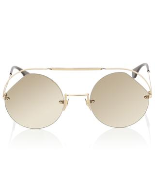 Ribbons & Crystals round-frame sunglasses FENDI